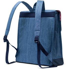 Herschel City Mid-Volume Backpack 14L, faded denim/indigo denim/tan synthetic leather
